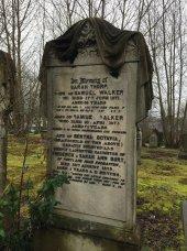 Example of Heavily Veiled Headstone.