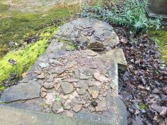 An example of weather damaged soft stone.