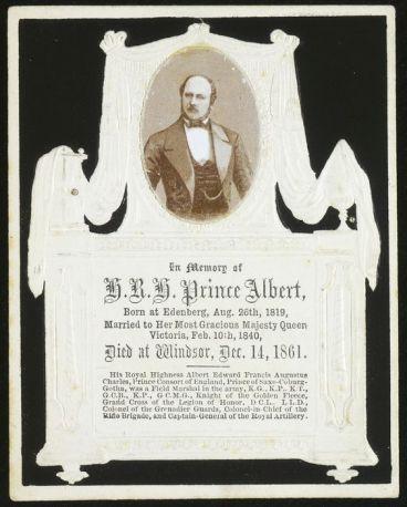Memorial Card for Prince Albert