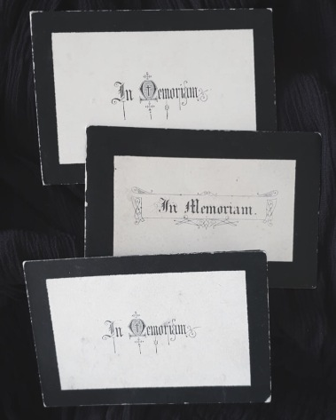 19th Century Memorial Cards
