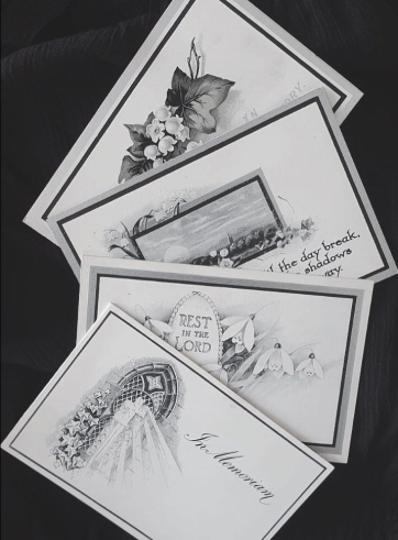 Early 20th Century Memorial Cards