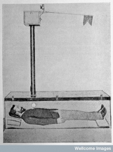 L0031930 W. Tebb, Premature Burial and how it may be Credit: Wellcome Library, London. Wellcome Images images@wellcome.ac.uk http://images.wellcome.ac.uk TEBB, William {1830-1918} W. Tebb, Premature Burial and how it may be prevented. With special reference to trance, catalepsy, and other forms of suspended animation. London: Swan Sonnenschein & co., 1905. Count Karnice-Karnicki's invention: illustration of apparatus connected to coffin, showing light and supply of oxigen being released into coffin, p.323. Published: - Copyrighted work available under Creative Commons by-nc 2.0 UK, see http://images.wellcome.ac.uk/indexplus/page/Prices.html