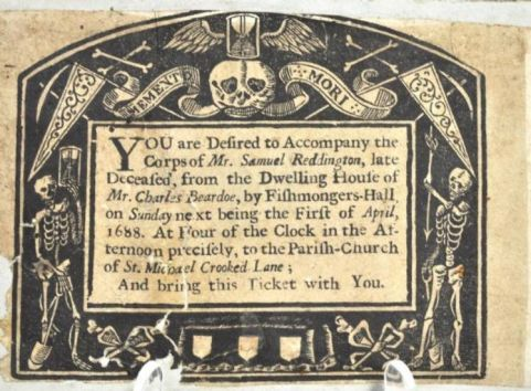 17th Century Funeral Invitation [via Just Collecting]